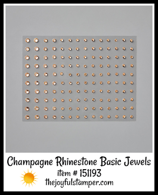 Stampin' Up! Champagne Rhinestones Basic Jewels | Nicole Steele The Joyful Stamper