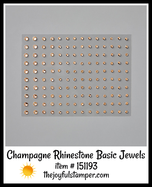 Champagne Rhinestone Basic Jewels | item 151193 | Stampin' Up! 2020 Mini Catalog