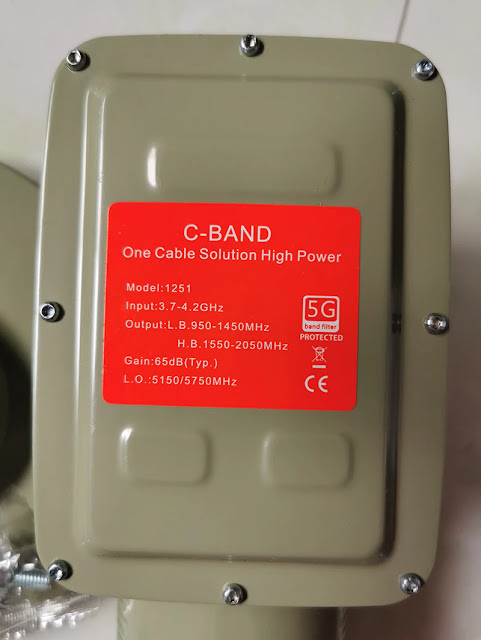 5G filter C band LNBF 17K, high signal quality, c band one cable solution 5150/5750 c band lnb