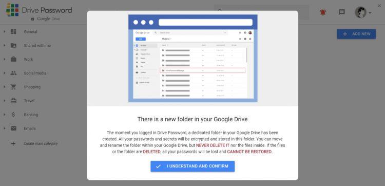 Ghi nhớ tất cả mọi tài khoản và mật khẩu bằng Drive Password