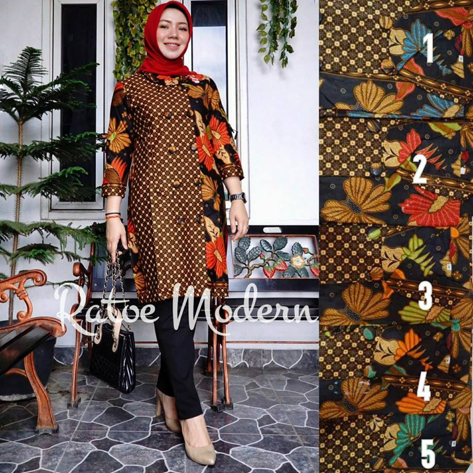 TUNIK MATARAM BATIK BY RATOE MODERN | Melody Fashion