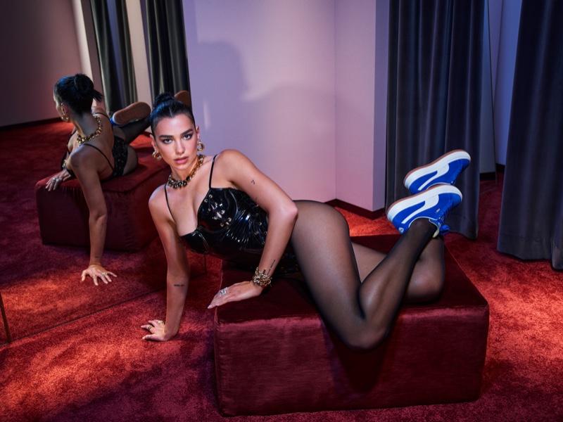 Dua Lipa stars in PUMA Suede Mayu sneaker campaign.