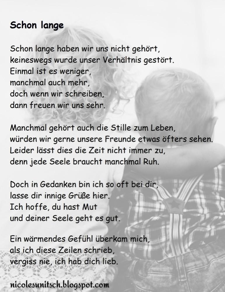 Gedichte Von Nicole Sunitsch Autorin Schon Lange