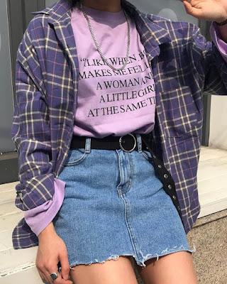 outfit retro morado