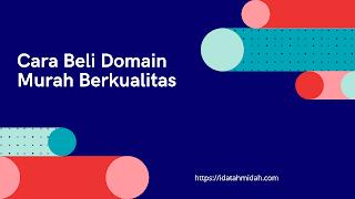 domain id murah