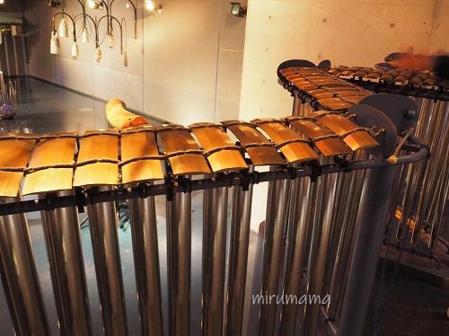 楽器が並ぶ部屋