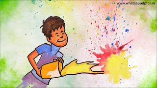 holi drawing easy