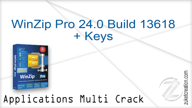 WinZip Pro 24.0 Build 13618 + Keys