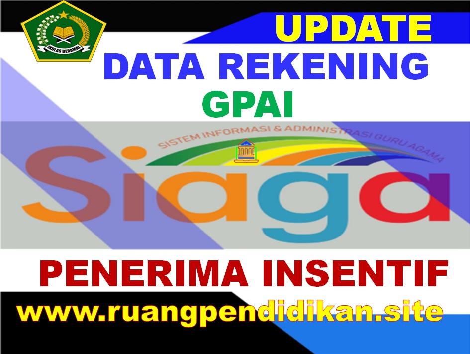 Update Data Rekening Bank Guru PAI