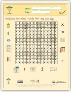 Ficha interactiva: Sopa de letras ABN.
