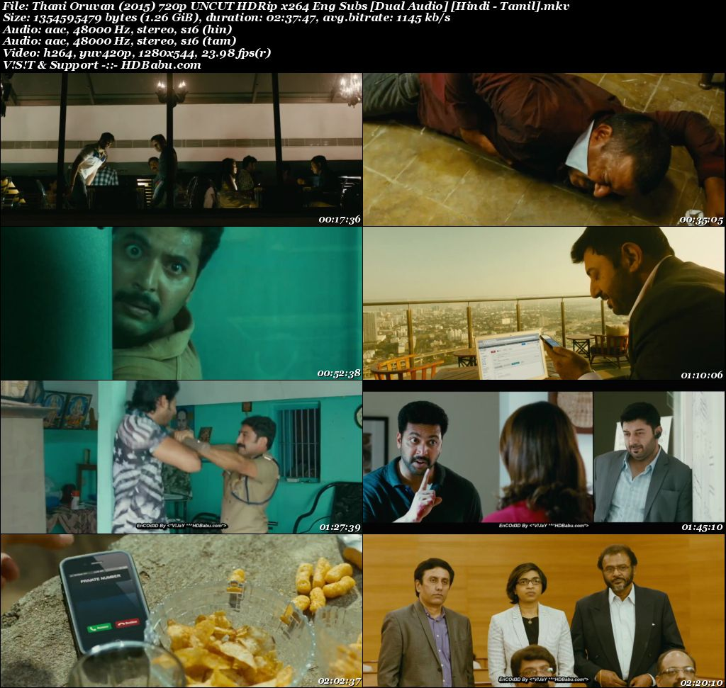 Thani Oruvan Hindi Dual Audio Full Movie Download