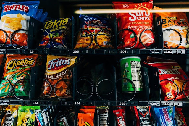 close-up of a vending machine