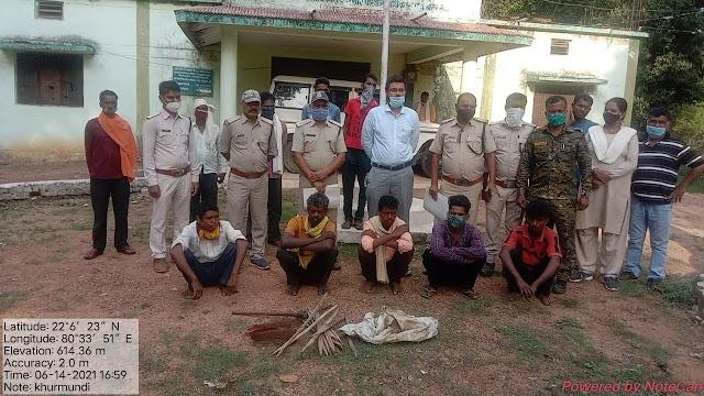 करंट से तेंदुये की मौत मामले में 5 आरोपी गिरफ्तार | Karant se tendue ki mout mamle main 5 aropi giraftar