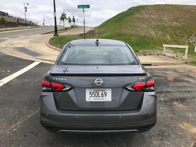 Rear view of 2020 Nissan Versa SR