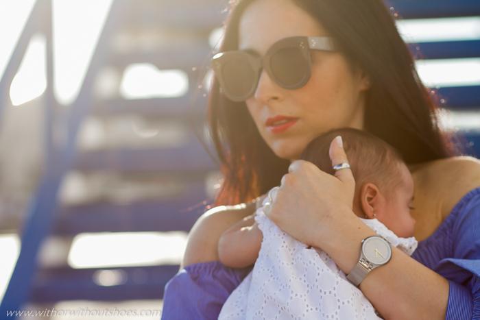 Mama Blogger influencer de moda con su hija