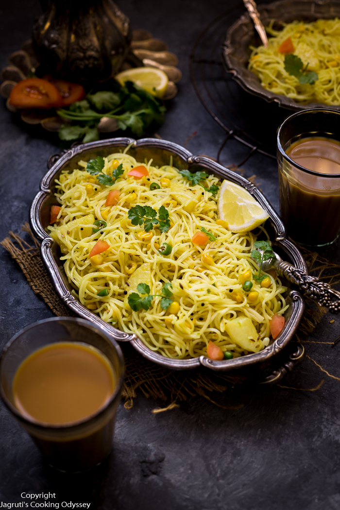 NO ONION POTATO AND SWEETCORN SEVIYAN VERMICELLI UPMA