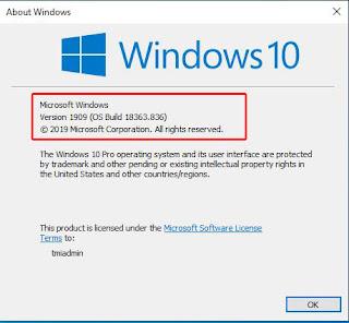 cara cek versi windows