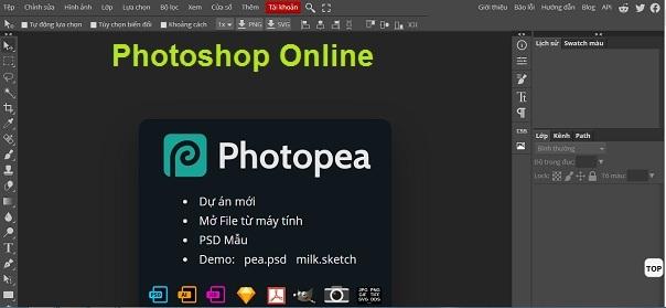 Photoshop Online Web   Công cụ chỉnh sửa ảnh trực tuyến miễn phí a
