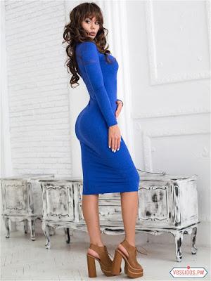 Vestido azul de primavera