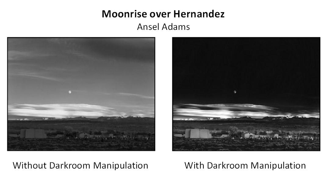 Photography Moonrise Over Hernandez Ansel Adams