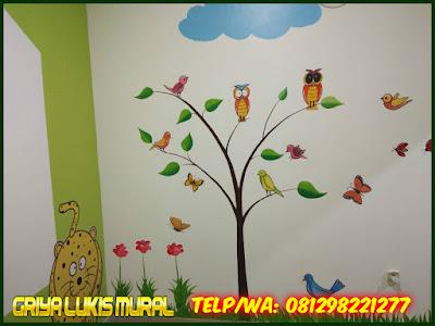 Lukisan dinding karun pohon dan hewan