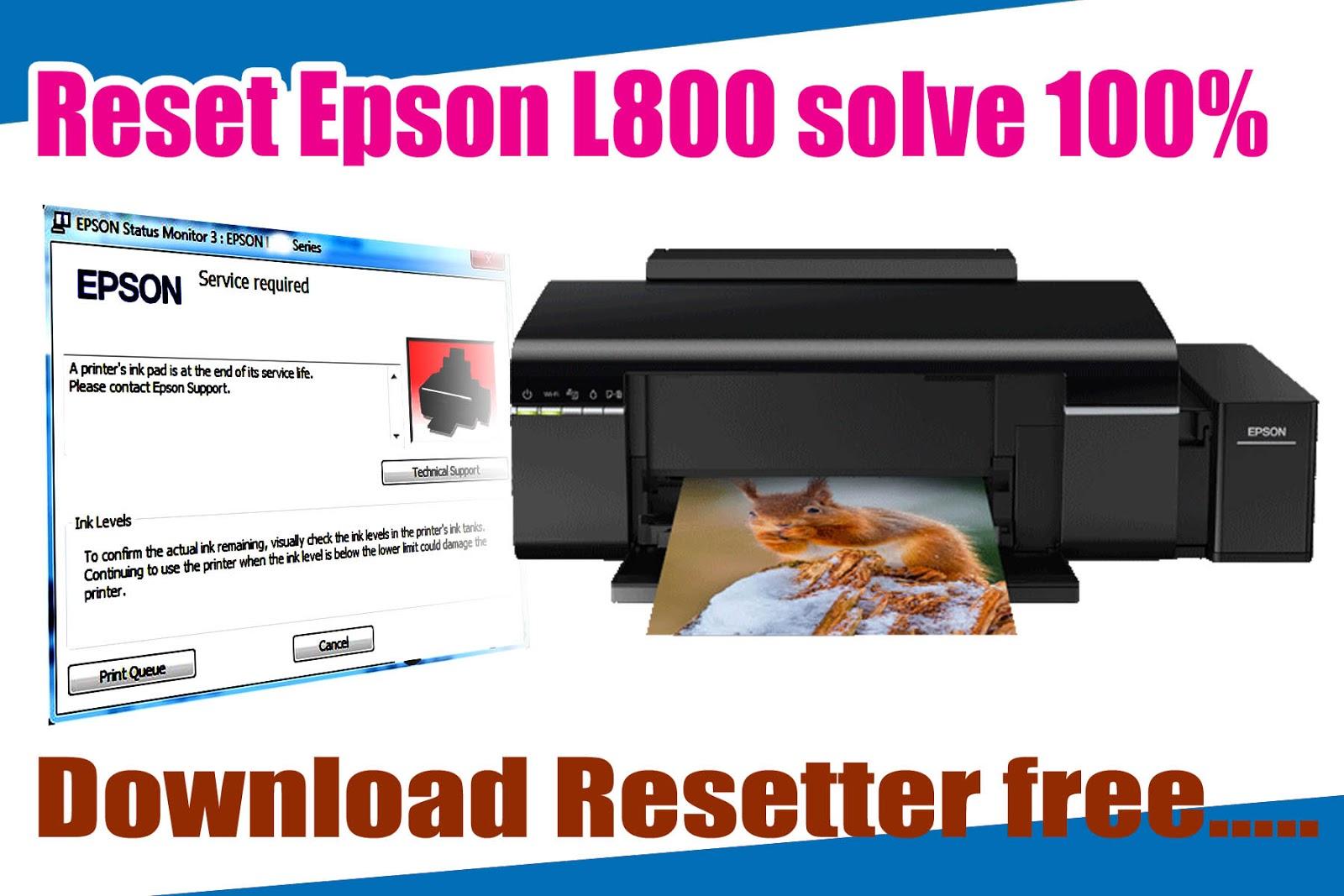 Reset Epson L800 with Adjustment Program (Solve a printer