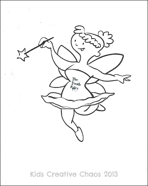 free tooth fairy coloring page printables