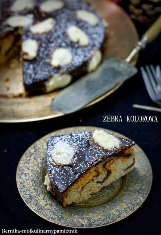 Ciasto Zebra Kolorowa Swiateczna Bernika Moj Kulinarny Pamietnik