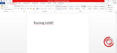 1. Untuk membuat simbol kurang lebih (±) di Word silakan kalian buka Microsoft Word lalu pilih menu Insert
