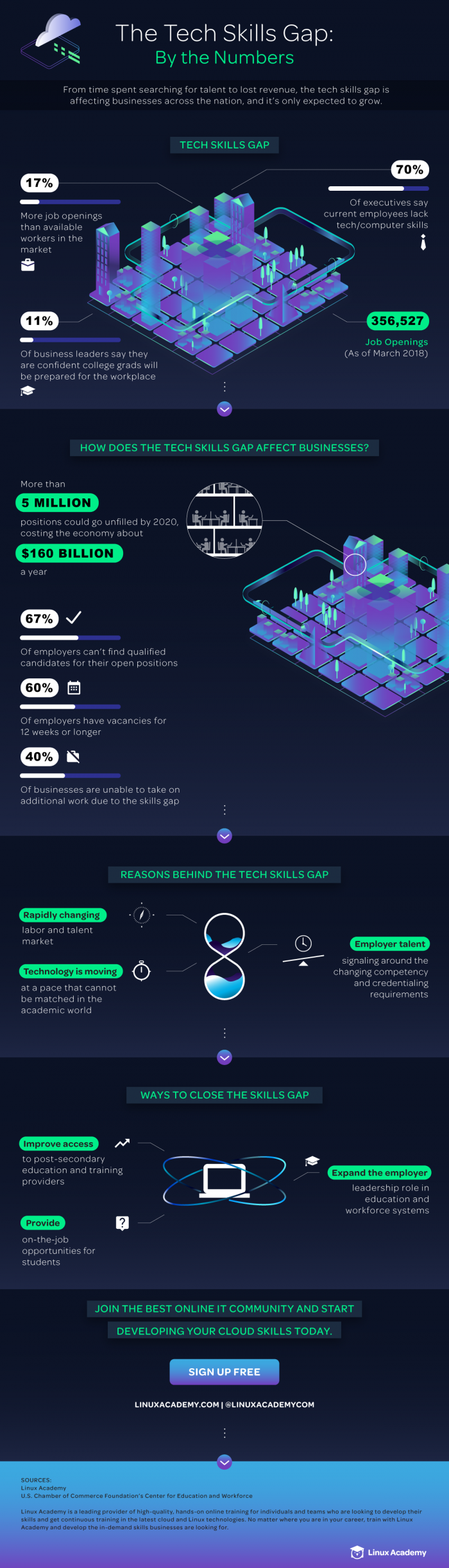 The Tech Skills Gap: Reasons Why & How to Solve It #infographic