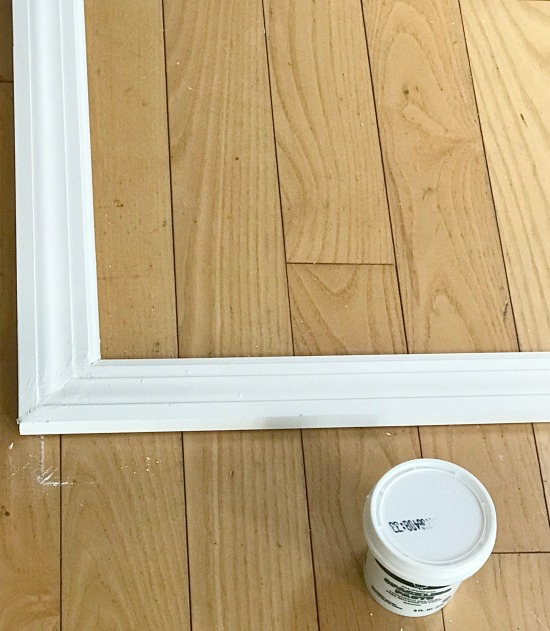 Adding a DIY frame to a bathroom mirror