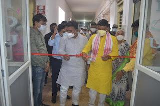 आयुष मंत्री श्री कावरे ने किया जिला अस्पताल में कोविड आईसीयू वार्ड का शुभारंभ
