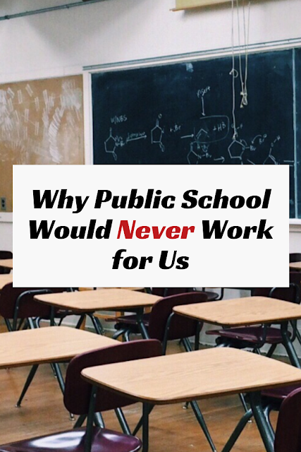 I can't speak for everyone, but I know this: Public school would NEVER work for my family. Here's why. #homeschool #homeschooling