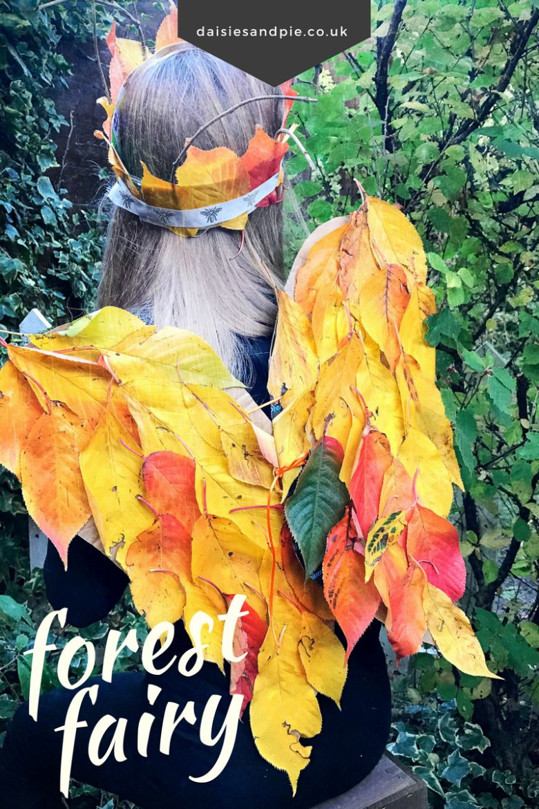 forest fairy wings and crown autumn craft for kids