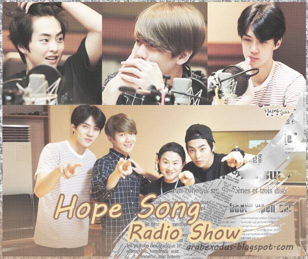 ترجمه || راديو Hope Song Radio Show مع شيومين بيكهيون سيهون .