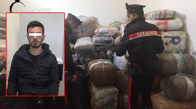 Over 1.5 tons of marijuana seized in Brindisi, Albanian arrested