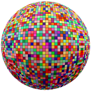 Foto de una gran esfera multicolor, todo es expansión. La expansión universal cómo es