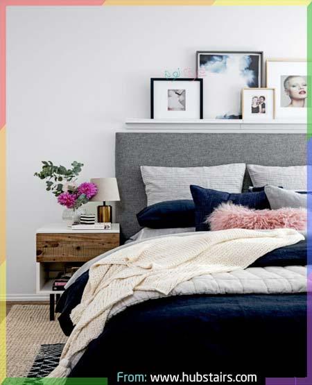 غرف نوم ازرق ورمادي أنيقة جدا