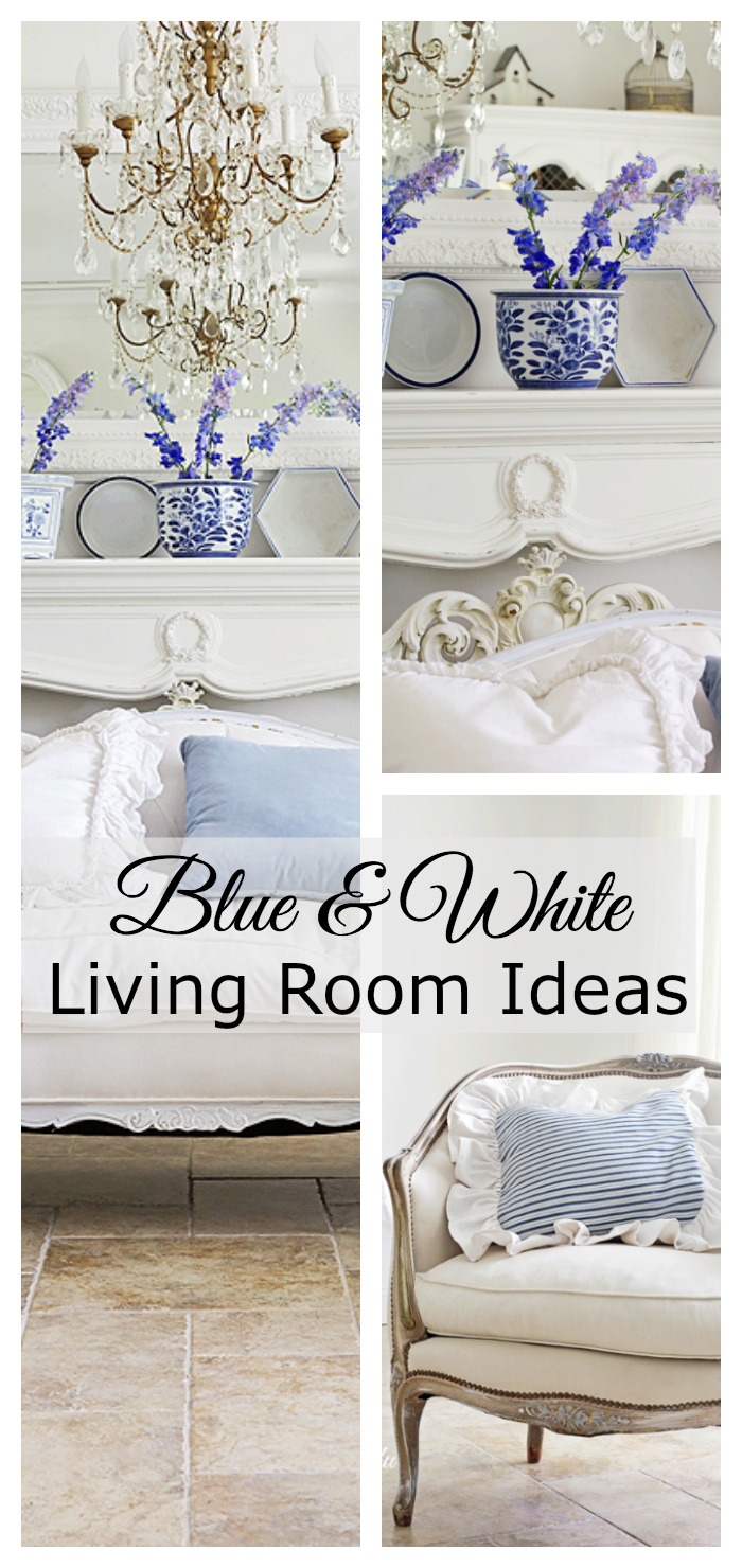 best blue and white living room decorating ideas