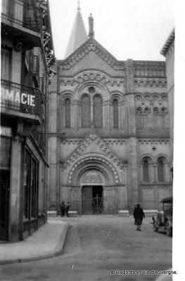 Vieille photo noir et blanc, Clermont-Ferrand