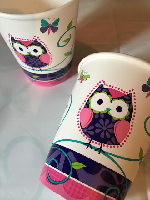 owl cardboard cups