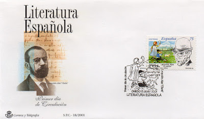 Sobre PDC de Oviedo del sello dedicado a Leopoldo Alas Clarín