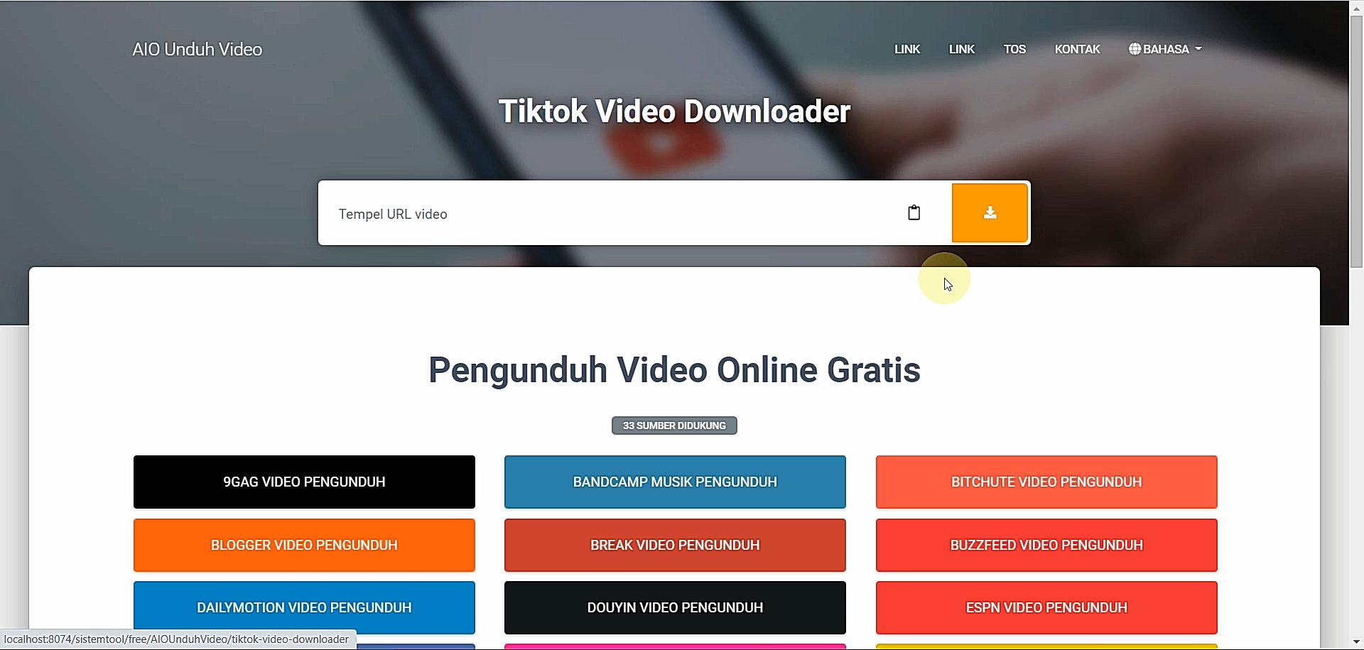 Source Code Web Video Downloader