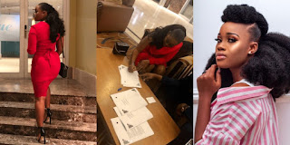 Cee-C Shows Off Her Impressive Backside As She Signs Another Deal (Photos)