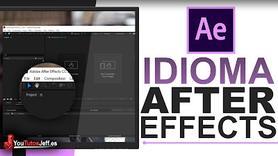 como cambiar el idioma after effects