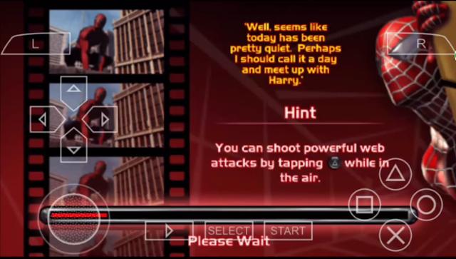 تحميل لعبة سبيدرمان 2 spider man  على محاكي ppsspp