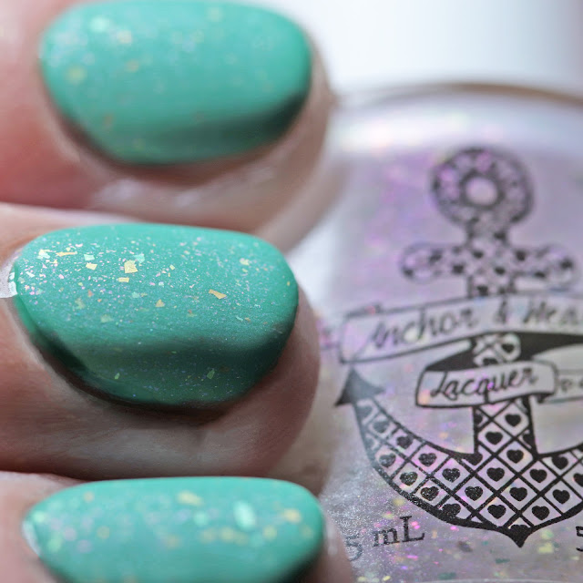Anchor & Heart Lacquer 11:11 over Jade