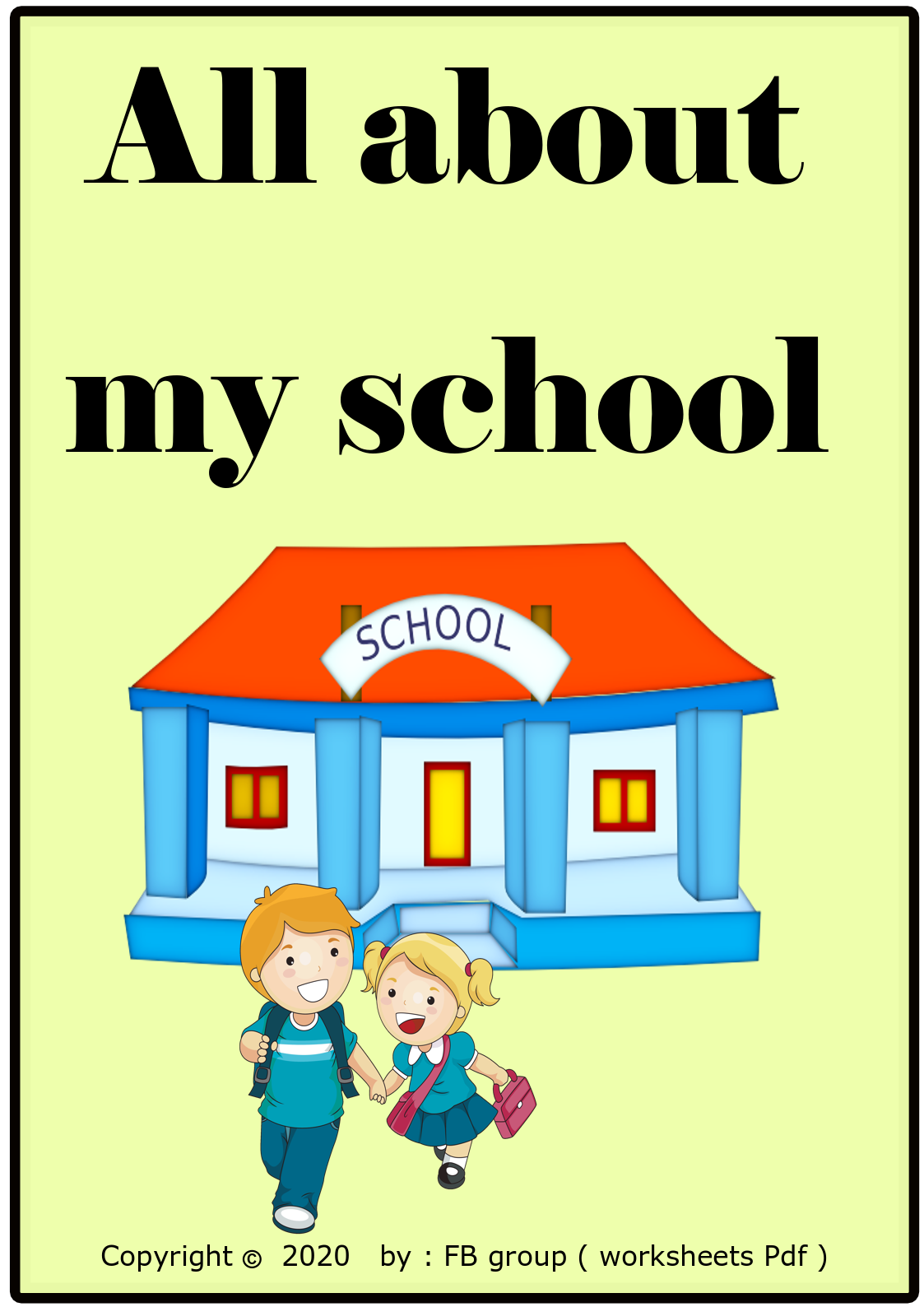 Download All About My School Activity Free