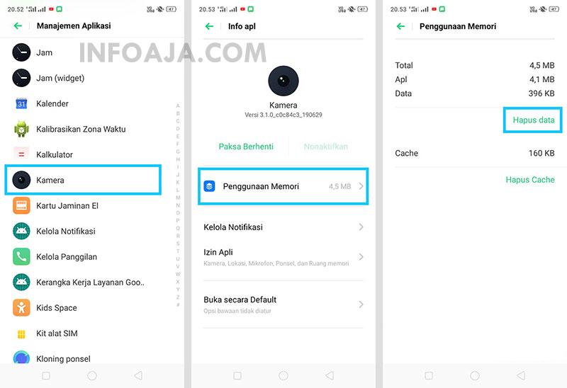 Hapus Data Aplikasi Kamera Realme