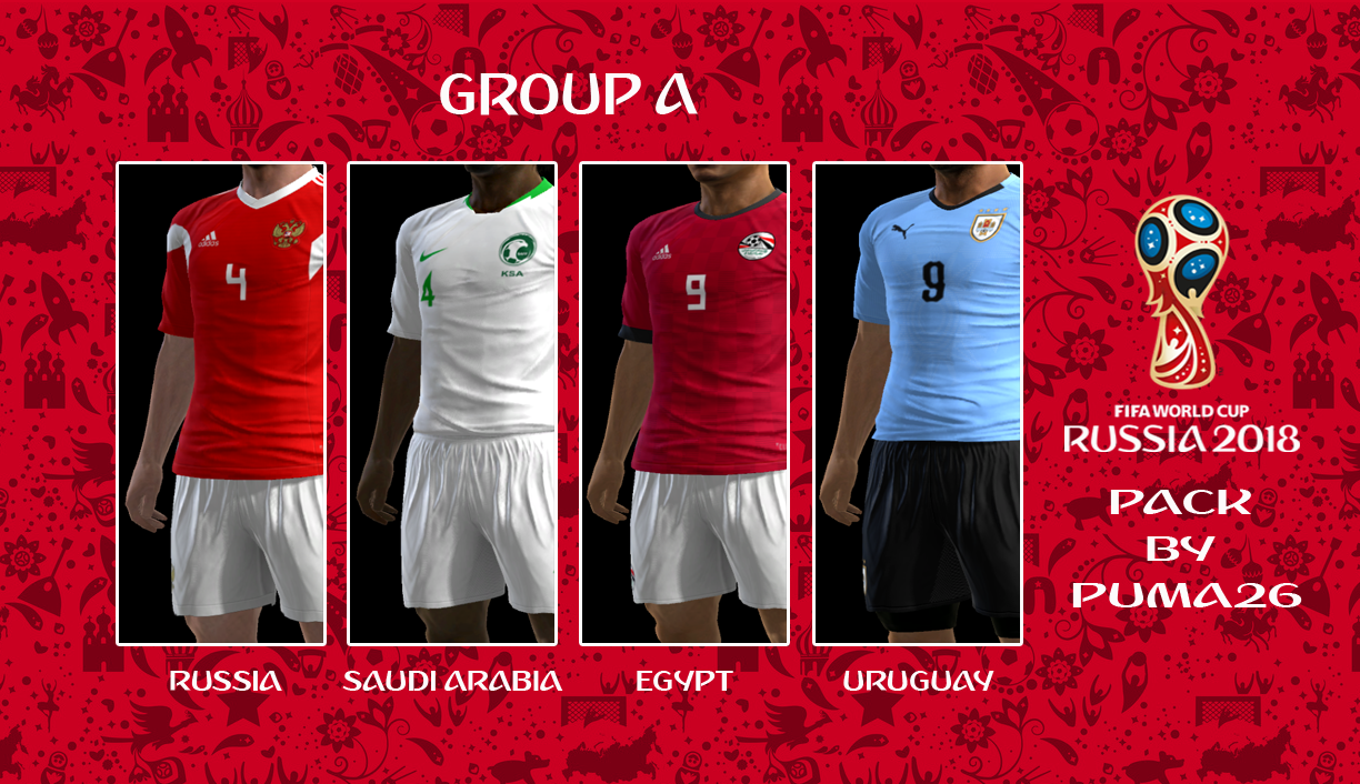 PES 2013 RUSSIA WORLD CUP 2018 GROUP A KITPACK BY PUMA26